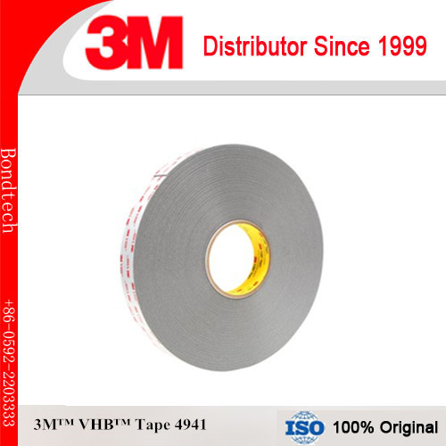 3M 4941 VHB Double Sided Tape with 1.1mm thick, Gray,12.5mmX33M (Pack of 1)<br>
