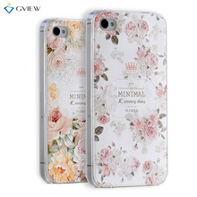 Gview Super 3D Relief Printing Clear Soft TPU Case For iPhone 4s 4 Phone Back Cover Ultra-thin Shell Free Ring Holder Film(China)