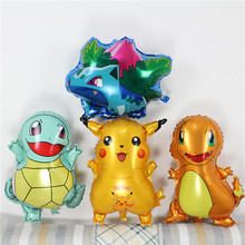 new Pokemon foil helium balloon cartoon Jay 's turtle Wonderful frog seeds Small dragon balloons party decoration balloon