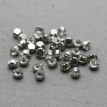 10PCS Hot wholesale Snap Fittings for Accessory Inlaid Crystal Rhinestone Findings Alloy separate beads Jewelry Making Design