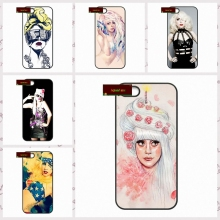 USA Popular Singer Lady Gaga Cover case for iphone 4 4s 5 5s 5c 6 6s plus samsung galaxy S3 S4 mini S5 S6 Note 2 3 4  DE0245
