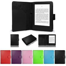Protective Cover For Amazon Kindle 7th Gen Touch Tablet Case Luxury Folio PU Leather Magnetic Stand W/ Card Slot Back Hard Bag