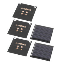 UXCELL 5 Pcs 2V 0.14W Diy Polycrystallinesilicon Solar Panel Power Cell Battery Charger 40Mm X 40Mm