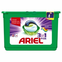 Washing Powder Capsules Ariel Capsules 3in1 Color (12 Tablets) Laundry Powder For Washing Machine Laundry Detergent