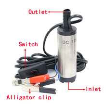 12V DC Diesel Fuel Water Oil Car Camping Fishing Submersible Transfer Pump Power tool accessories(China)