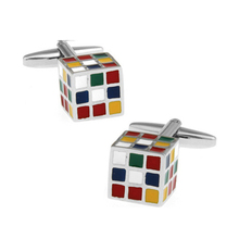 OMENG Fashion Enamel Superhero Metal Knots Magic Cube Cufflink Cuff Link Crazy Promotion 1 Pair Free Shipping XK006