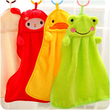 Cute Animal Microfiber Kids Children Cartoon Absorbent Hand Dry Towel Lovely Towel For Kitchen Bathroom Use HG03