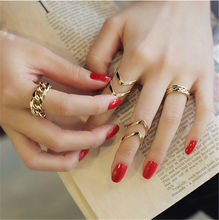 Arrow Shape Knuckle Rings Punk Cuff Finger Ring Gift for Women Woman Girl 3 Pcs/Set Gold Sliver Plated