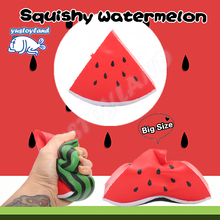 12CM Jumbo Triangle Watermelon Phone Straps Squishy Slow Rising Retail Packaging Charms Fruit Scented Pendant Bread Kid Toy Gift(China)