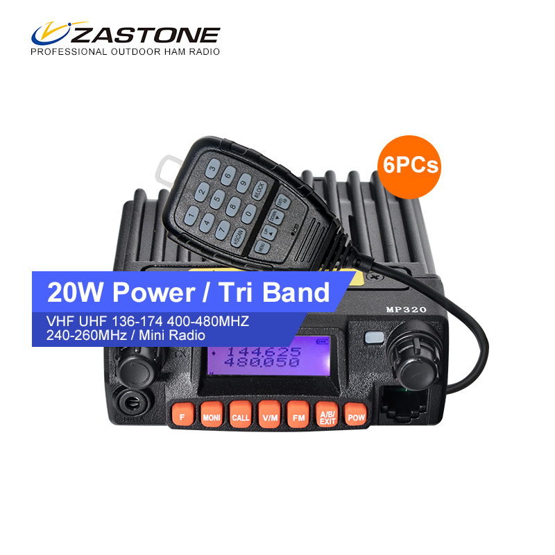 Good Quality 6Pcs 20W MP320 Power Car Walkie Talkie Hf Transceiver Radio Station Radio Vhf Uhf Dual Band Transceiver(China (Mainland))