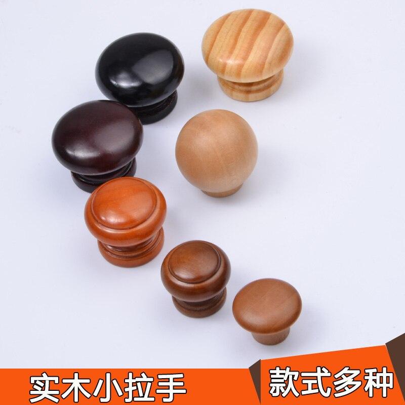 10pcs/Lot Natural Wooden Cabinet Drawer Wardrobe Door Knob Pull Handle Hardware Plain Circle Handle(Ab1-Ab14)<br><br>Aliexpress