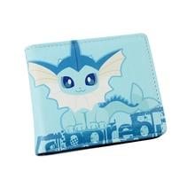 Vaporeon Colorful PU Purse W-Anime Pocket Monster Poke Ball Eevee Pikachu Wallet Type