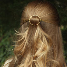 Wholesale Simple Geometric Round Circle Hairpins Long Pin Hair Stick for Women Accessories 2H2010