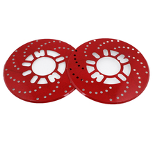 UXCELL 2 Pcs Aluminum Disc Brake Cross-Drilled Rotor Cover Red For Truck Car Vehicle