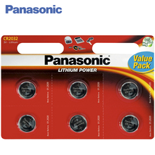 Panasonic CR-2032EL/6BP Batteries 1 bl/6 ps Lithium Power 3V Designed for use in floor and kitchen scales, calculators