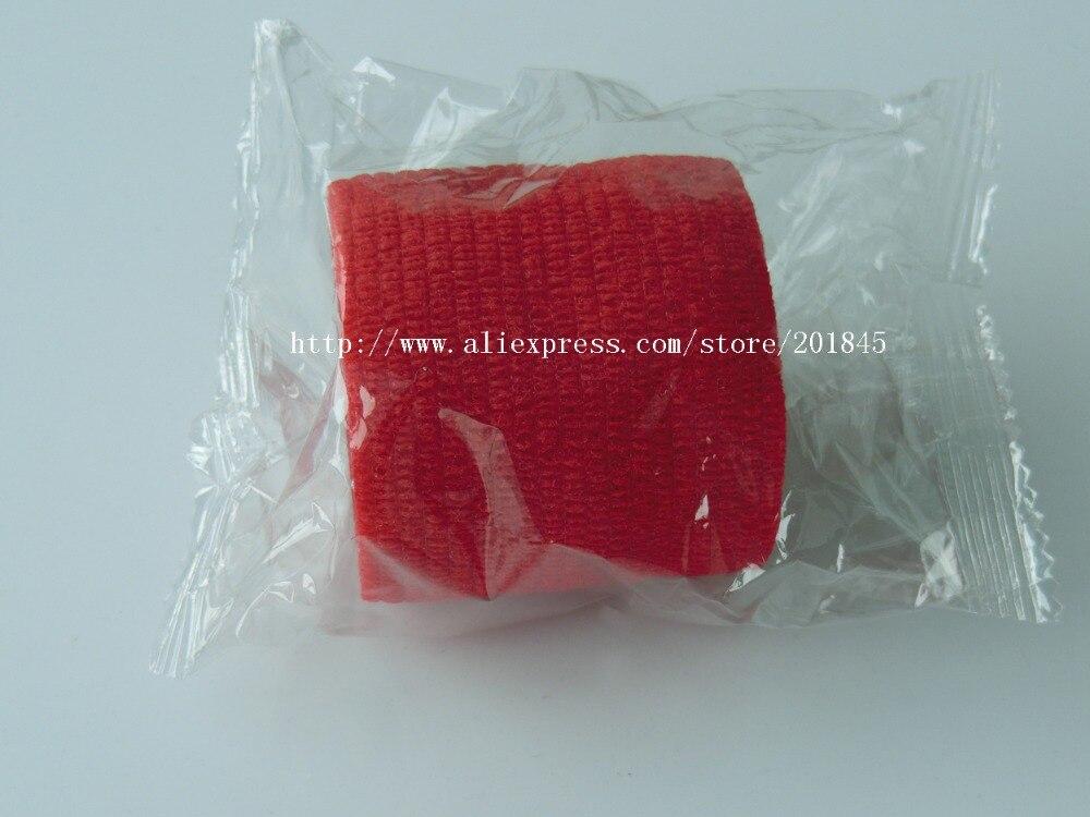 96Pcs/Lot  Non woven Self Adhesive Cohesive Bandage elastic gauze  5cm*4.5m Red<br><br>Aliexpress