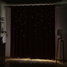 Modern Window Curtain Living Room 3d Hollow Star Pattern Window Treatments Solid Curtains for Bedroom Single Panel (Color of 4)(China)