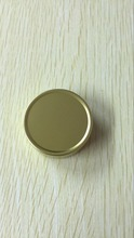 Lot of 100pcs 10ml Aluminum Jars Lip Balm Pots 10g Cosmetic Container gold Tins wholesale(China)