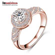 LZESHINE 2017 Hot Sale Rings Christmas Gift Gold / Silver Color Clear AAA Zircon  Fancy Women Jewelry Rings CRI0006