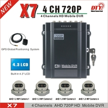 DTY X7G  GPS tracking, 100% test before delivery school bus truck mobile dvr mdvr 4ch ahd dvr
