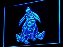 g062 Eeyore Display Toys Gifts NEW LED Neon Sign with On/Off Switch 7 Colors to choose