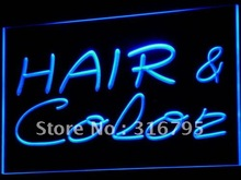 i564 Hair & Color Salon Cutting Shop LED Neon Light Sign On/Off Switch 7 Colors