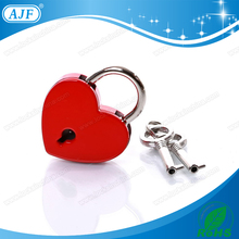 AJF new product of red love lock for valentines day promotion The heart of human body jewelry padlock, beauty
