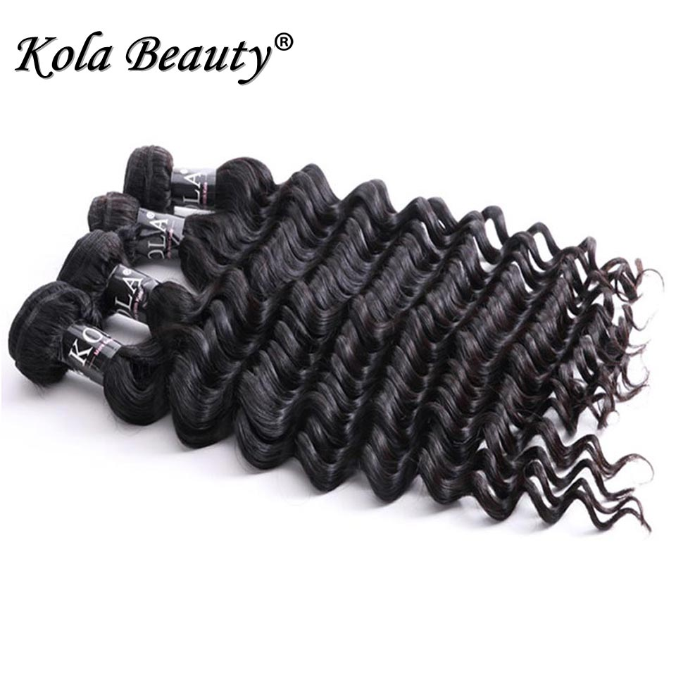 Kola Beauty Hair Brazilian Virgin Hair Deep Wave Cheap Human Hair Weave 4Bundles Raw Brazillian Natural Deep Wave Curly Weave<br><br>Aliexpress