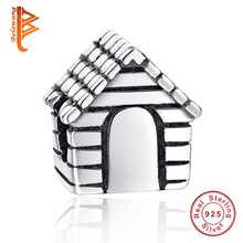 925 Sterling Silver Family House Charm Fit Original Pandora Charms Bracelets&Bangles DIY 2017 Newest Cartoon Bead Jewelry