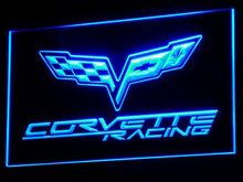 d095 Chevrolet Corvette Racing LED Neon Sign with On/Off Switch 7 Colors to choose