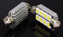 10 Pcs/lot 41mm 5050 8SMD White Micro General Car Festoon Dome LED Light Bulbs Lamp DC12V(China)