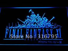 e033 Final Fantasy FF11 PS2 Gifts LED Neon Sign with On/Off Switch 7 Colors to choose