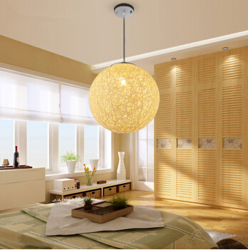 Hand knitting  silk thread Spherical decorative Chandelier decorate in livingroom bedroom study room studio cafe shop office<br>