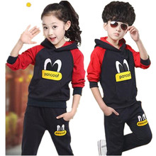 Children's sports suit girls boys children clothing set baby clothes/British wind fleece suits spring and autumn period TZ02
