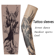 Cool Tattoo Arm sleeve Adult Street Dance Outdoor Sprots Oversleeve Prevent Basketball Sleevelet For Man And Woman(China)