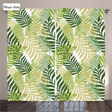 Curtains Light Shading Living Room Bedroom Leaves Decor Tropical Palm Tree Botanical Graphic Green EMagic Lady(Russian Federation)