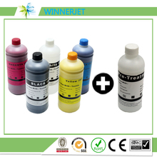 New technology!!!Tinta For Epson SureColor F2000 for Epson L800 Textile Ink DTG ink+pretreatment(2W+1BK C M Y+1 Pretreatment)