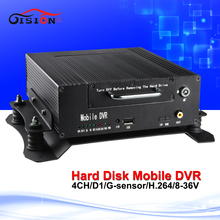 high quality 4channel hd hard disk mdvr full d1hd surveillance recorder support Rearview cameras night sight free shipping(China)