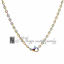 2016 Fashion 316 Stainless steel Rainbow Chains For Memory  Living Floating Locket