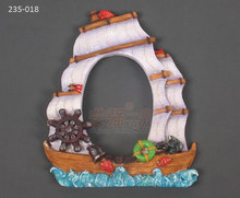 Silicone Chocolate molds 235-018_ sailing wind and waves photo frame shape sugar arts mold  fondant cake mold clay mould