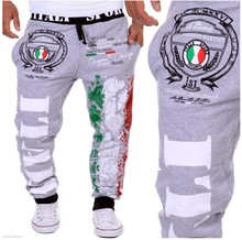 Hot Sale Italian Flag Print Men Pants Sporting Pant Men Sweatpants Trousers Cargo Pants Joggers