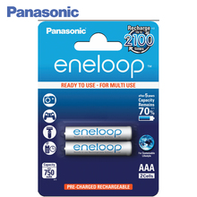 Panasonic BK-4MCCE/2BE Rechargeable Batteries eneloop 750mAh AAA R03 BL2