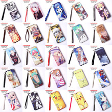 Anime Tokyo Ghoul/One Piece/Naruto/LoveLive/Attack On Titan/Date A Live/Hatsune Miku etc PU Long Style Purse/Wallet with Zipper(China)
