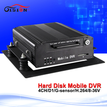 2016 Hotsale Hdd Dvd Recorder 4Channel Cctv Car Dvr Support Night Sight Playback Loop Recording Hard Disk Mobile Dvr(China)