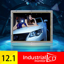 "12.1""  Open Frame square screen 1024*768 LCD Monitor 12.1 Inch TFT LCD Color Monitor Screen VGA DVI Input for PC"