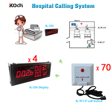 Wireless Nursing Call Bell System For Elderly Disabled Hospital Clinic Emergency Center Service Push Calling Button