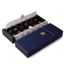 24*9*3.5CM 10 set deep sapphire blue Chocolate Paper Box valentine's day Christmas Birthday Party Gifts Packing use