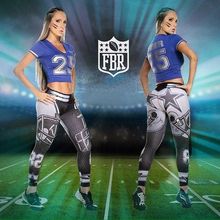 Woman Yoga Pants Fitness Fiber Sport Leggings Dallas Cowboys Sports Tights Trousers Exercise Training Gym Clothing Sportswear(China)