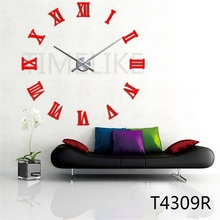 Large Wall Clock Horloge Murale 3D DIY Mirror Stickers Home Decor Big Watch Quartz Clock Mechanism(China)