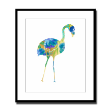 Watercolor Flamingo Turquoise Blue Canvas Art Print Painting Poster Wall Pictures for Home Decoration Framed Not Include  LZ295